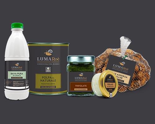 Linea prodotti Lumaroè allevamento e vendita lumache